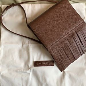 Auxiliary leather fringe brown purse BRAND NEW